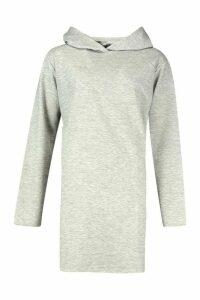 Womens True Oversized Hoodie Dress - grey - 16, Grey