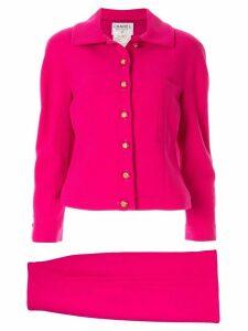 Chanel Pre-Owned Setup suit jacket skirt - Pink