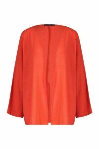Womens Split Sleeve Kimono - orange - M, Orange