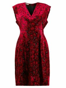 Prada Pre-Owned 2000's leopard pattern dress - Red