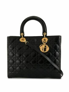 Christian Dior Pre-Owned Lady Dior Cannage tote - Black