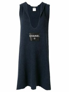 Chanel Pre-Owned knitted scarf dress - Blue