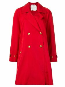 Chanel Pre-Owned CC button trench coat - Red