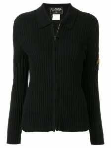 Chanel Pre-Owned 1996 zip-up polo shirt - Black