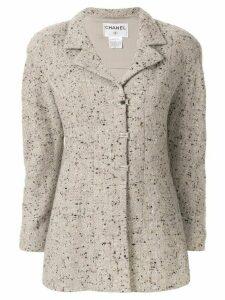 Chanel Pre-Owned 1999 tweed jacket - Grey