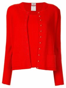 Chanel Pre-Owned 1996 two-piece cardigan set - Red