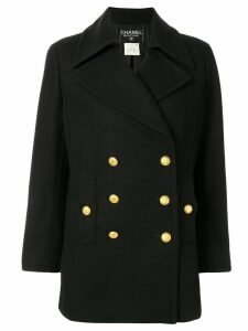 Chanel Pre-Owned 1996 double-breasted coat - Black