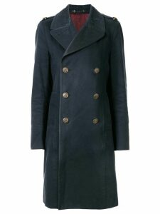 Gucci Pre-Owned double-breasted coat - Blue