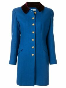 Chanel Pre-Owned 1996 CC button jacket - Blue