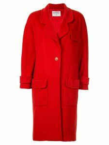Chanel Pre-Owned CC button peacoat - Red