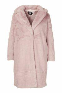 Womens Plus Supersoft Faux Fur Midi Length Coat - purple - 20, Purple