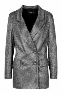 Womens Sparkle Blazer - black - 10, Black