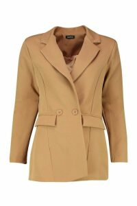 Womens Double Breasted Blazer - beige - 14, Beige
