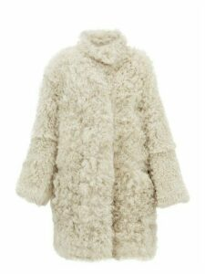 Raey - Stand Collar Curly Shearling Coat - Womens - Cream