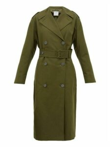 Stella Mccartney - Belted Cotton Canvas Trench Coat - Womens - Khaki