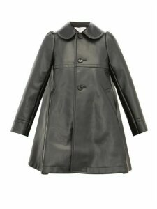 Comme Des Garçons Girl - Heart Cut Out Faux Leather Coat - Womens - Black