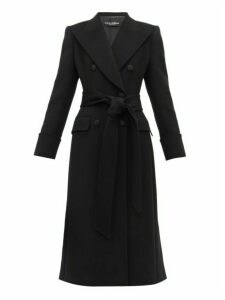 Dolce & Gabbana - Double Breasted Wool Pea Coat - Womens - Black