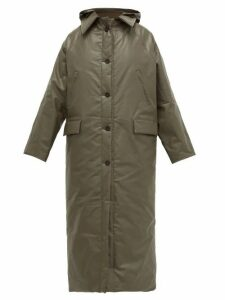 Kassl Editions - Oil Coated Cotton Blend Canvas Coat - Womens - Khaki