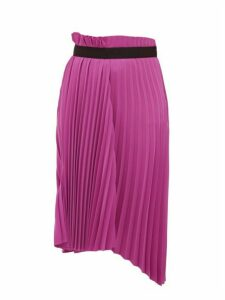Balenciaga - Pleated Asymmetric Midi Skirt - Womens - Dark Pink