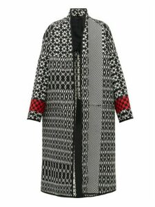 Haider Ackermann - Geometric Jacquard Wool Coat - Womens - Black Multi