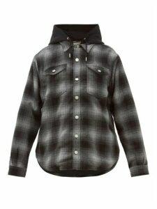 Eytys - Alpha Tartan Hooded Shirt Jacket - Womens - Dark Grey