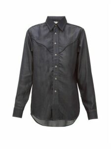 Eytys - Dallas Topstitched Tencel Chambray Shirt - Womens - Denim