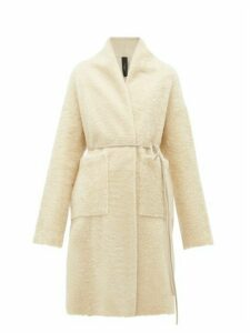 Giani Firenze - Claudia Riccio Shearling Coat - Womens - Ivory