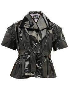 Elzinga - Belted Pvc Top - Womens - Black