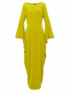 Norma Kamali - Cutout Sleeve Maxi Dress - Womens - Yellow