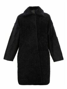 Giani Firenze - Yvette Shearling Coat - Womens - Navy