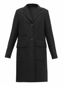 Margaret Howell - Soft City Single Breasted Wool Coat - Womens - Navy