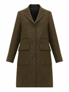 Margaret Howell - Soft City Herringbone Wool Coat - Womens - Dark Green