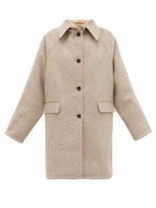 Kassl Editions - Raglan Sleeve Felted Wool Coat - Womens - Beige
