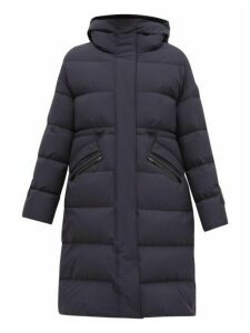 Herno - Quilted Down Filled Hooded Coat - Womens - Navy