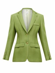 Burberry - Single Breasted Tailored Scuba Blazer - Womens - Green