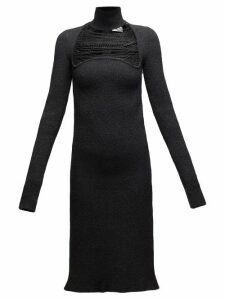 Bottega Veneta - Beaded Silk Blend Sablé Dress - Womens - Black