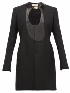 Bottega Veneta - Single Breasted Satin Panel Coat - Womens - Black