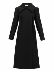 Lemaire - Longline Wool Blend Coat - Womens - Black