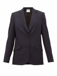 Pallas X Claire Thomson-jonville - Faulkner Single Breasted Wool Twill Blazer - Womens - Navy