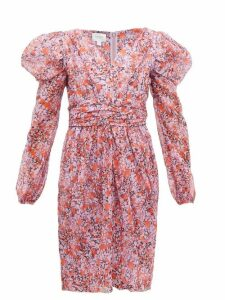 Giambattista Valli - Floral Print Silk Georgette Dress - Womens - Pink Multi