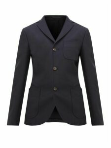 Holiday Boileau - Gabi Single Breasted Wool Blazer - Womens - Navy