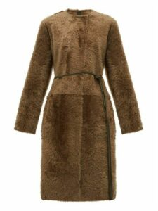 Giani Firenze - Carla Reversible Shearling Coat - Womens - Dark Green