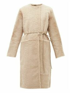 Giani Firenze - Carla Reversible Shearling Coat - Womens - Beige