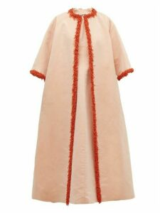 William Vintage - Givenchy 1963 Coral Embellished Faille Coat - Womens - Pink