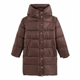 Mid-Length Hooded Padded Jacket