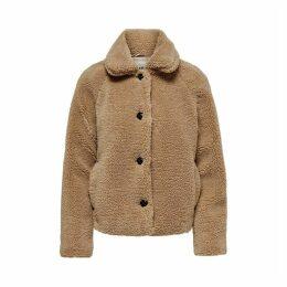 Short Jacket with Sheep Imitation Fur
