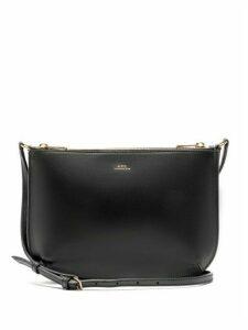 A.p.c. - Sarah Leather Cross Body Bag - Womens - Black