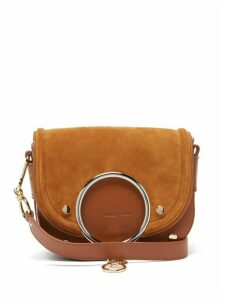 See By Chloé - Mara Leather And Suede Cross Body Bag - Womens - Tan