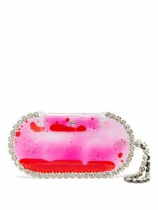Christopher Kane - Crystal Embellished Small Pvc Clutch Bag - Womens - Pink Multi