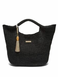 Heidi Klein - Grace Bay Medium Raffia Basket Bag - Womens - Black